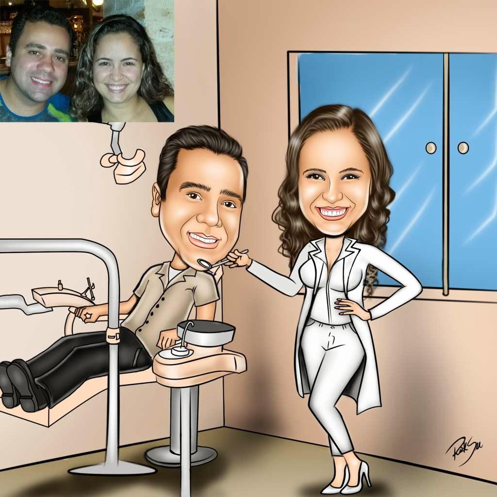 dentista odontologia  com ricksu caricaturas