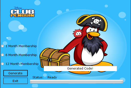 Club Penguin Membership Generator 2013