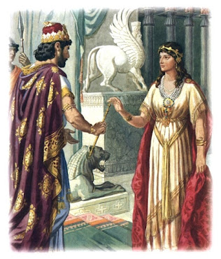Queen Esther and King Ahasuerus