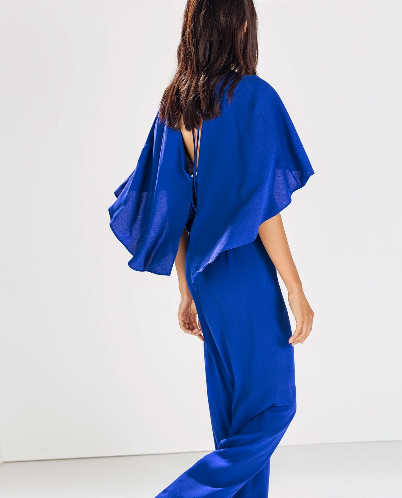 zara blue jumpsuit