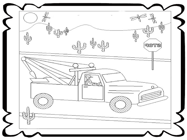 Tow Truck Printable Coloring Pages