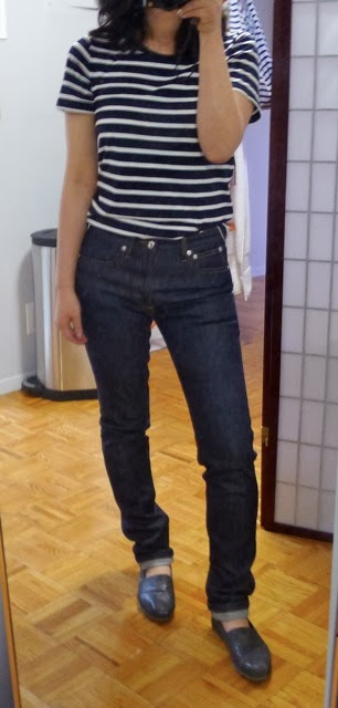 A.p.c. Woman Mid-rise Skinny Jeans Dark Denim Size 26 A.P.C.