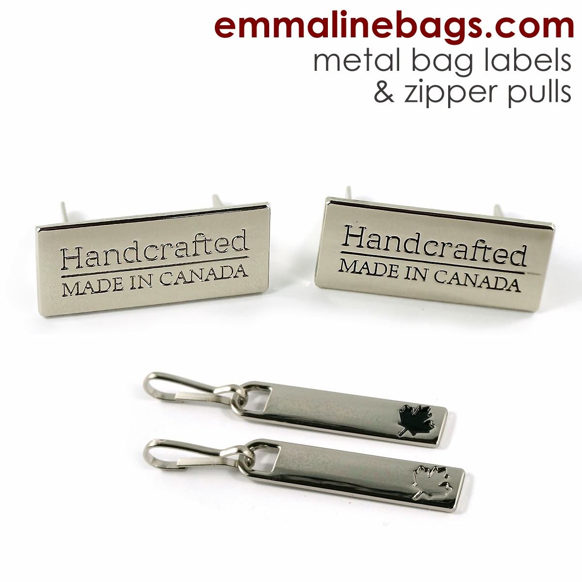 Made in Canada labels and zipper pulls
