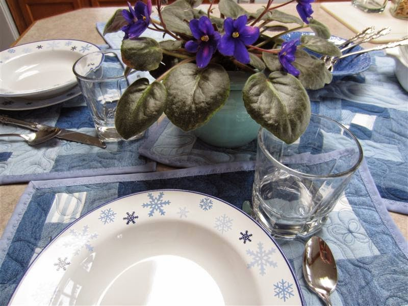A Blue Denim Tablescape