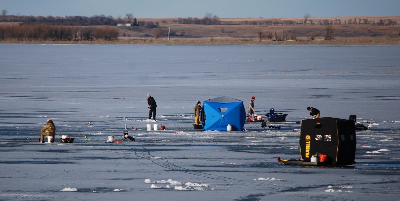 Life in fort yates north dakota ice fishing on the for North dakota ice fishing