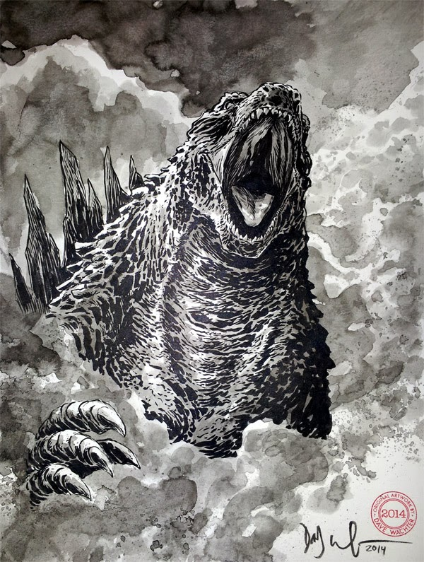 Sketches from Appleseed Comic Con 2014Godzilla 2014 Sketch