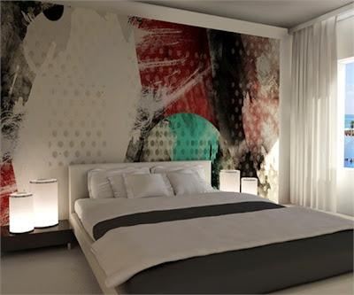 decoración con fotomural dormitorio