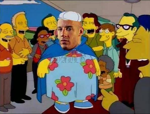 #Vindiesel #fat #homersimpson #meme.- Homer Simpson, fat, vin diesel, meme