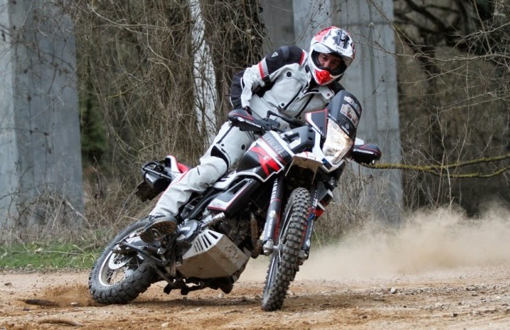 Yamaha tenere in action