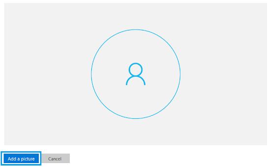 tambahkan gambar profil email