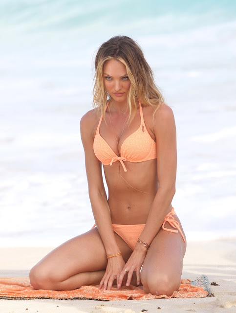 Candice Swanepoel – Victoria's Secret Photoshoot Candids in St. Barts