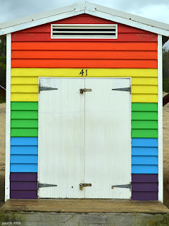 beach hut forty one rainbow