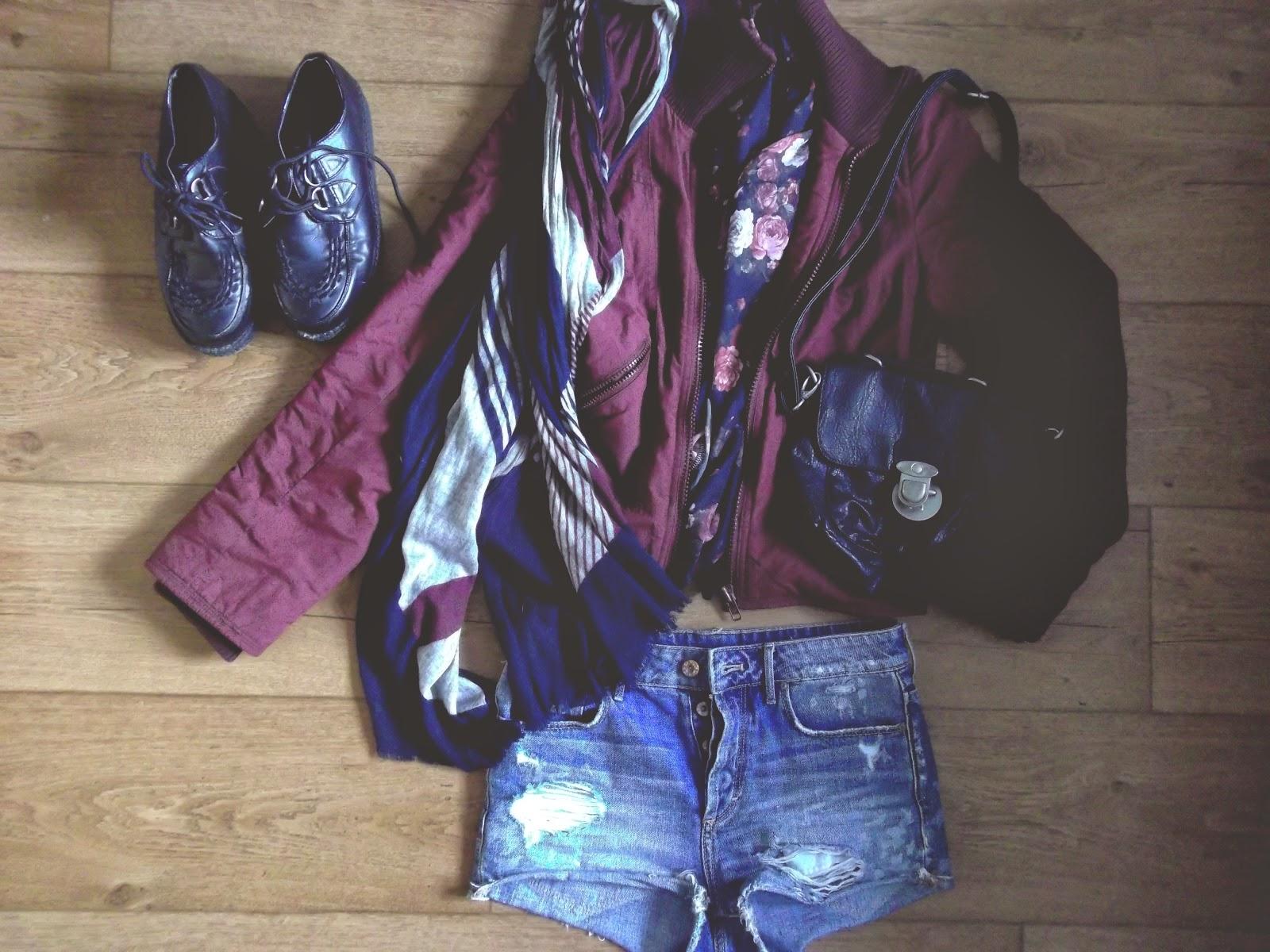 short taille haute, H&M, kimono, fleure, Sac, cartable, navy, harrington,