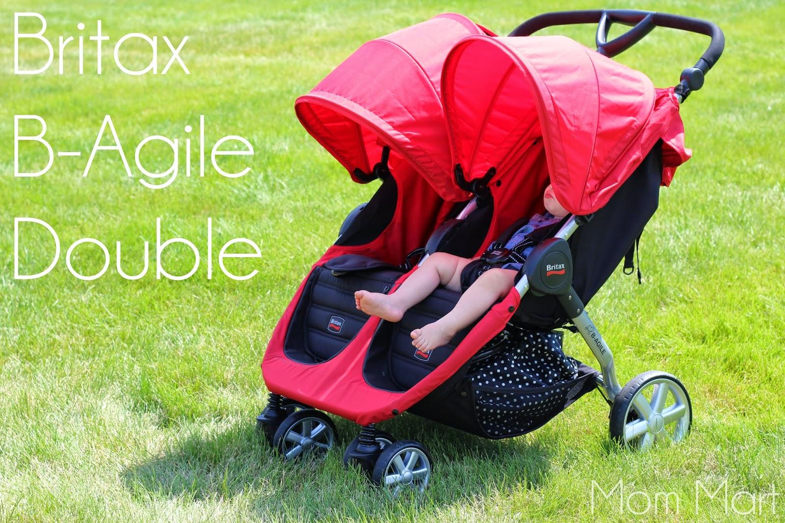 Britax BAgile Double Stroller Review #DoubleStroller #BritaxBAgile