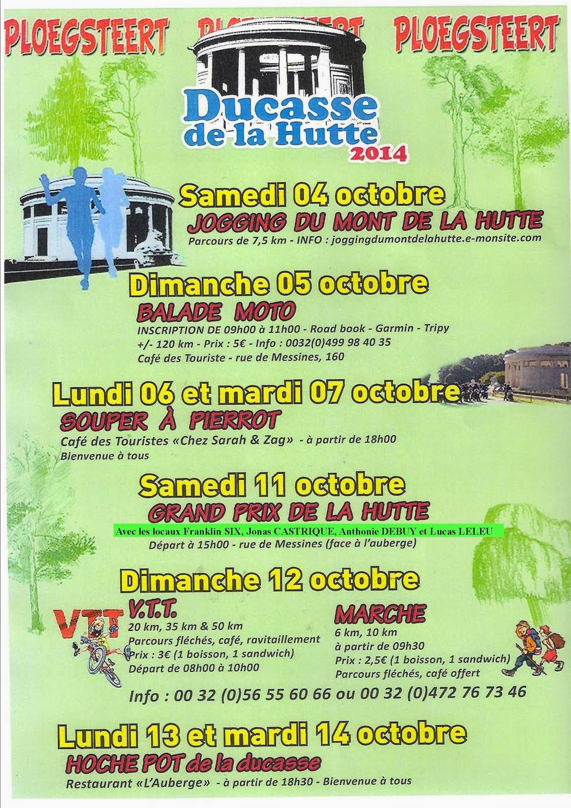 DU 4 AU 14 OCTOBRE DUCASSE DE LA HUTTE