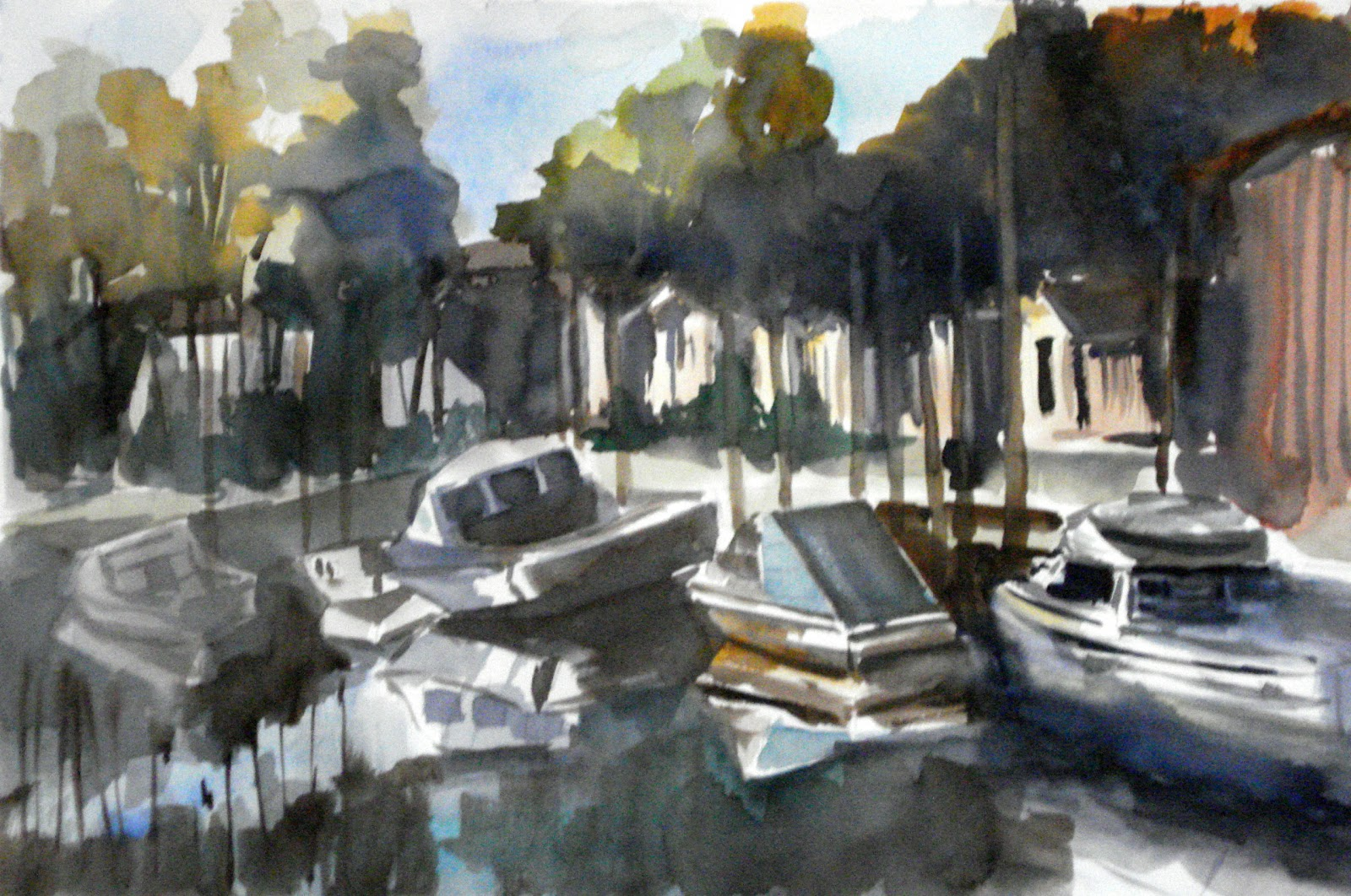 Marie max leblond galerie aquarelle cabanes biganos - Office de tourisme biganos ...
