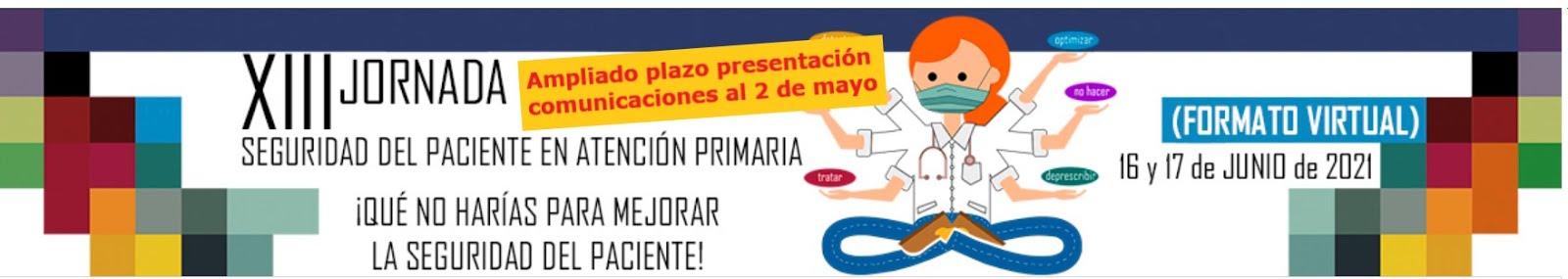 Ampliado al 2 de mayo, 23:59 h, plazo de presentación de comunicaciones a la XIII Jornada #SegPacA