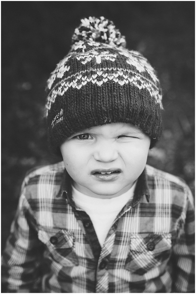 Photo of a young boy in a bobble hat