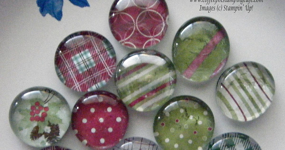 Coffee Pot Stamping Cafe: Christmas Refrigerator Magnets