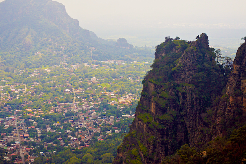 tepoztlan morelos mexico view from the mountain