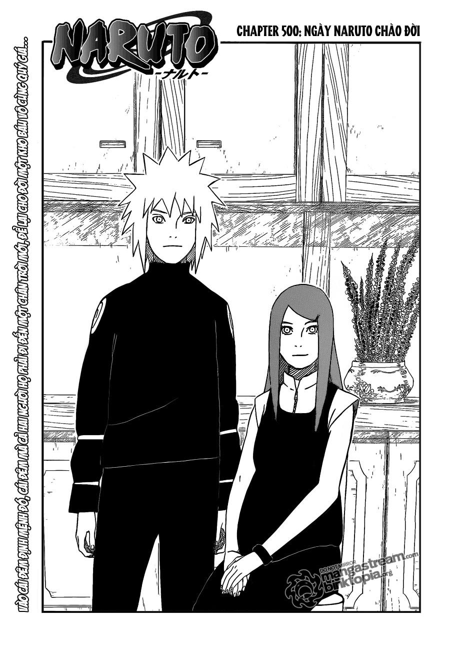 Naruto chap 500 Trang 1 - Mangak.info