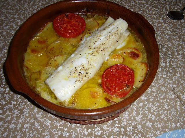 Lomo de bacalao al horno la tauleta - Cocinar bacalao desalado ...