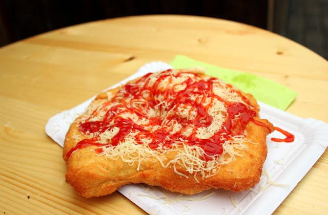 Langos, street food in Prague