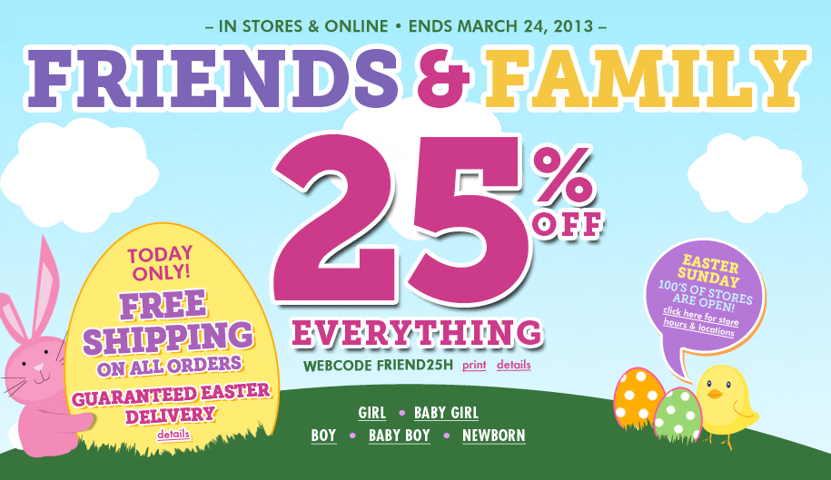 Coupon code for childrens place