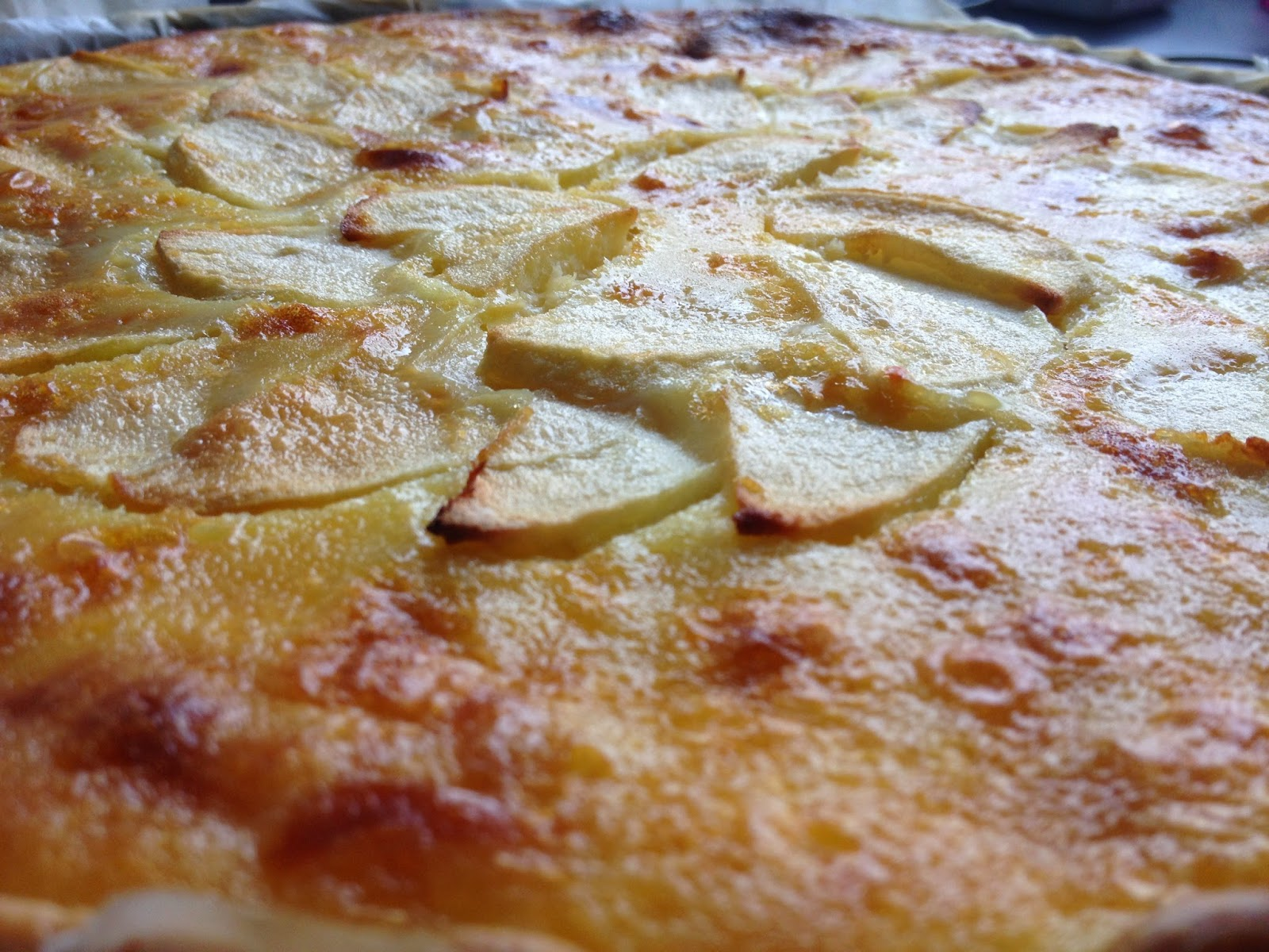 Apfeltarte, Marzipan, Kuchen, schnelle Rezepte