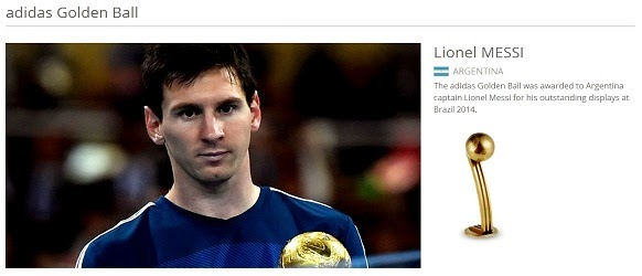 Anugerah Pemain Terbaik Kejohanan - Piala Dunia FIFA 2014