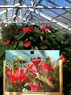 Botanical Gardens, plein air, floral painting