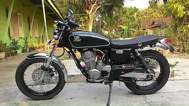Foto Modifikasi Honda CB 175 Hitam Keren Kreasi Anak Boyolali