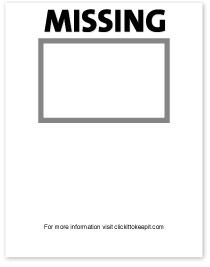 Missing posters template