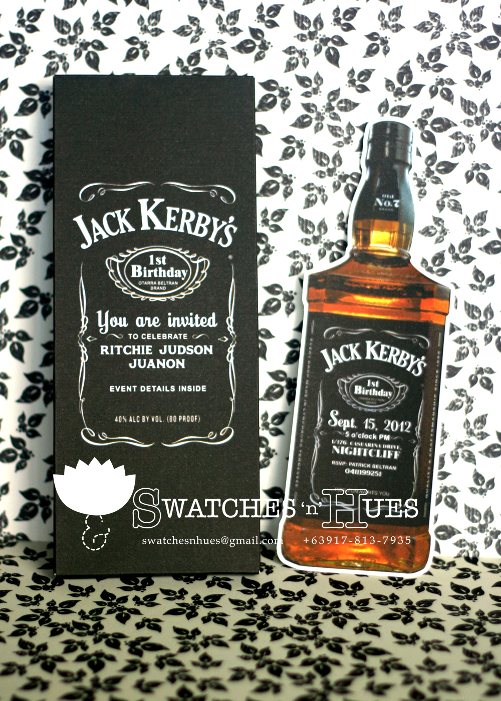 Swatches Hues Handmade with TLC Jack Daniels themed party