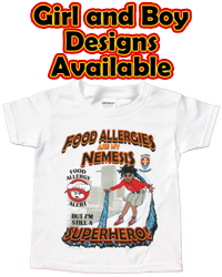 Allergy Superheroes Shirts