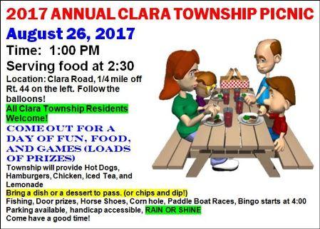8-26 Clara Township Picnic