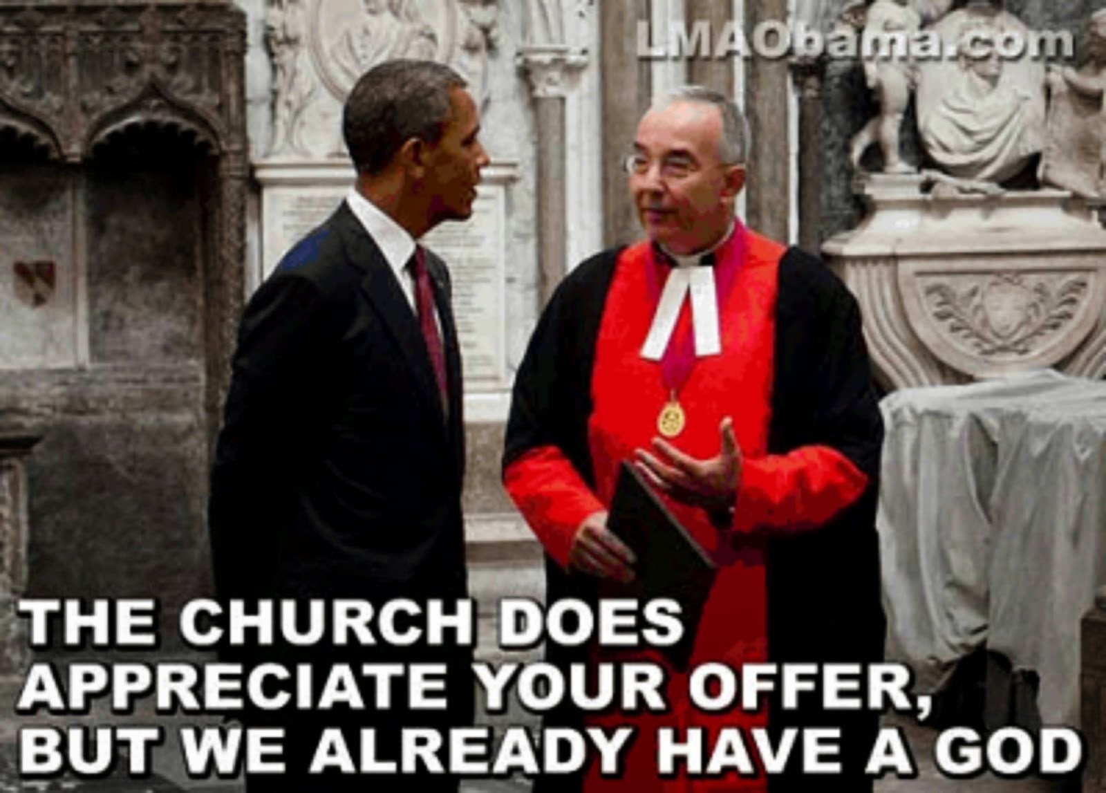"OBAMA APPLIES FOR A JOB AS ""GOD"" AT THE VATICAN"
