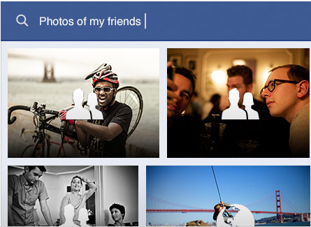 Screen Shot of Graph search Photos of my friends: Intelligent Computing