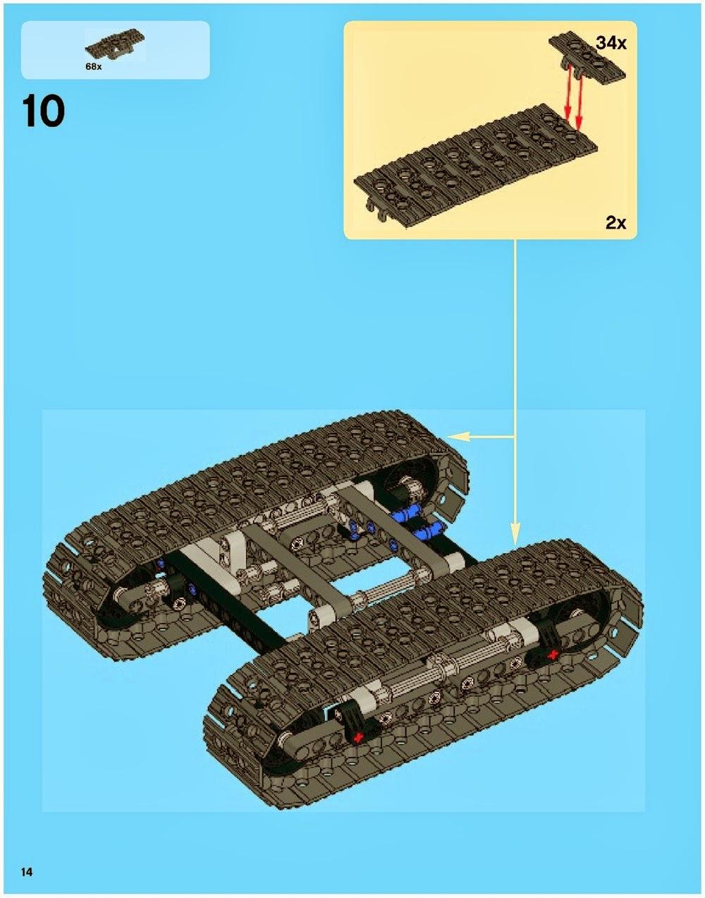 Лего Танк гусеницы