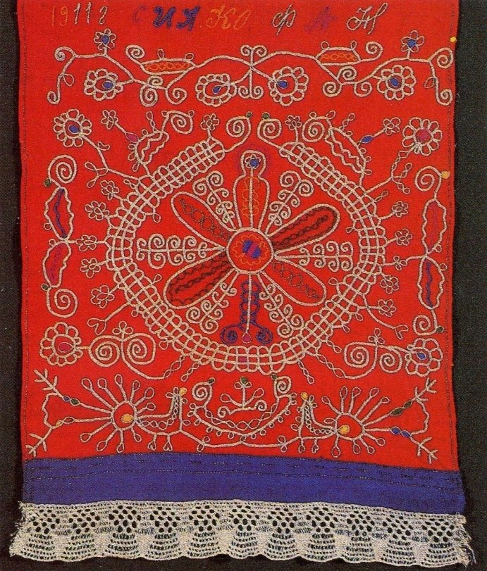 славянский календарь вышивка