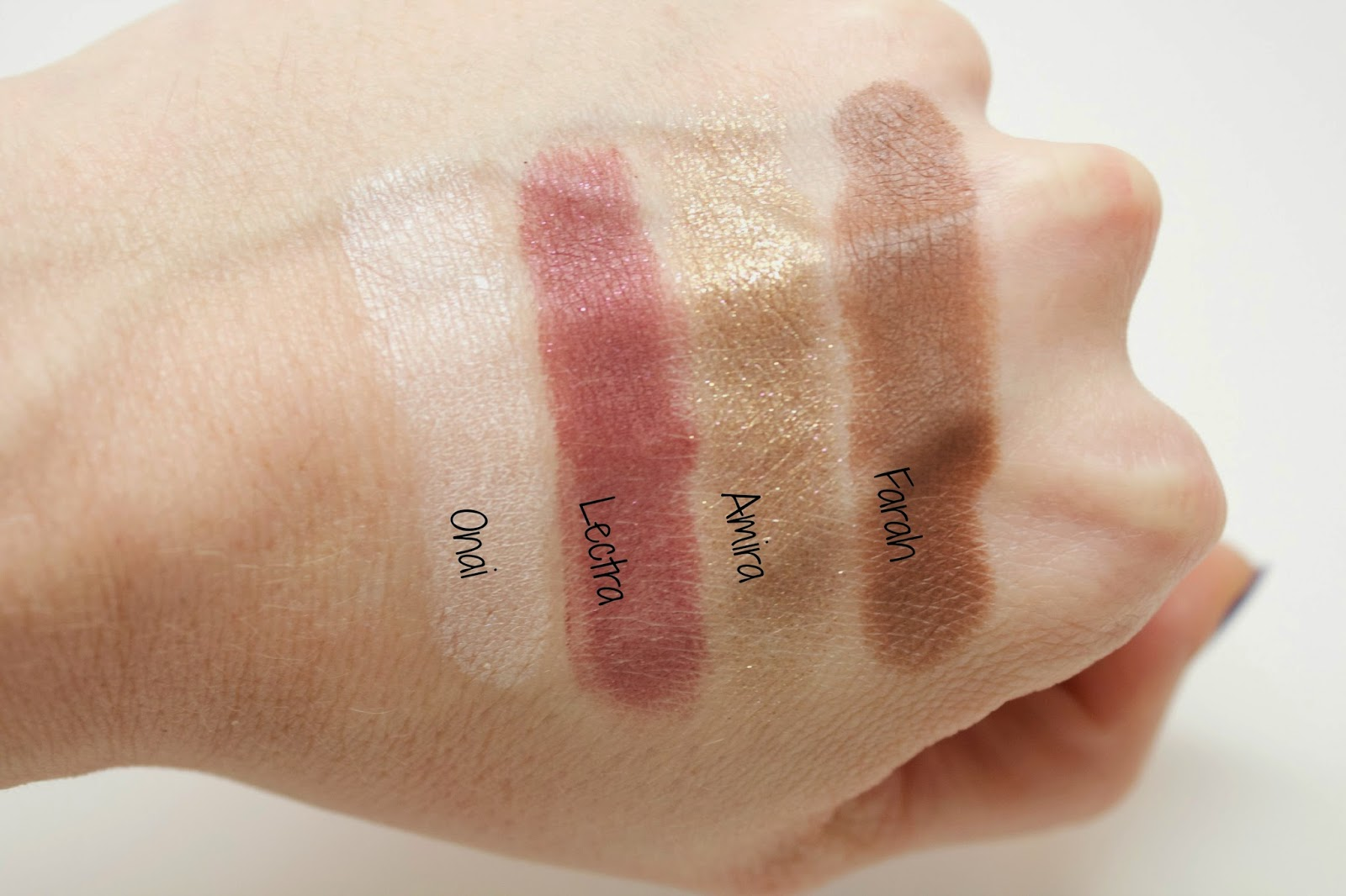 Colour Pop Megan Naik swatches, @girlythingsby_e