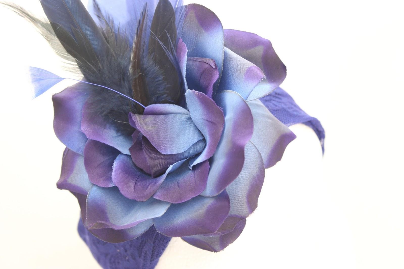 Colección Zinnia - Banda elastica ancha Azul Bouquet (Detalle)