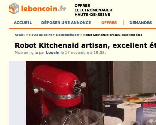 Robot kitchenaid artisan le moins cher table de cuisine - Robot de cuisine pas cher ...