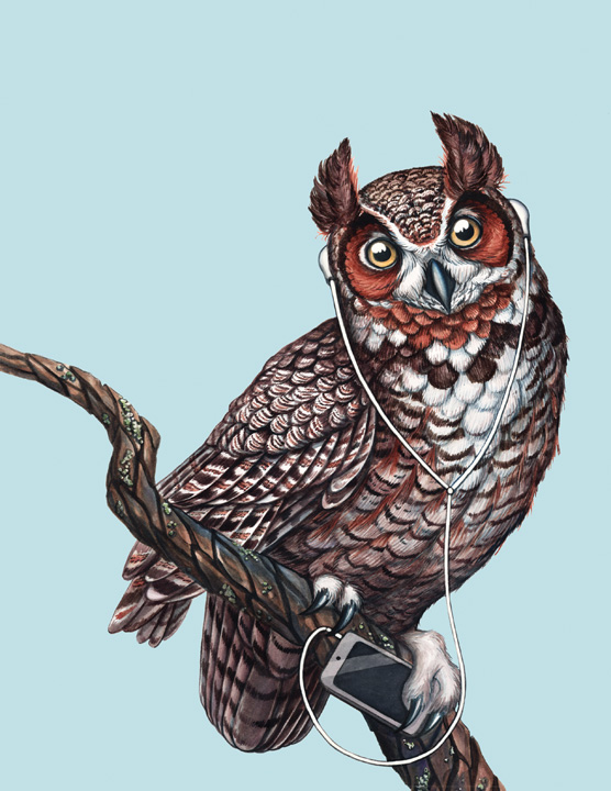 JADA FITCH ILLUSTRATIONGreat Horned Owl Illustration