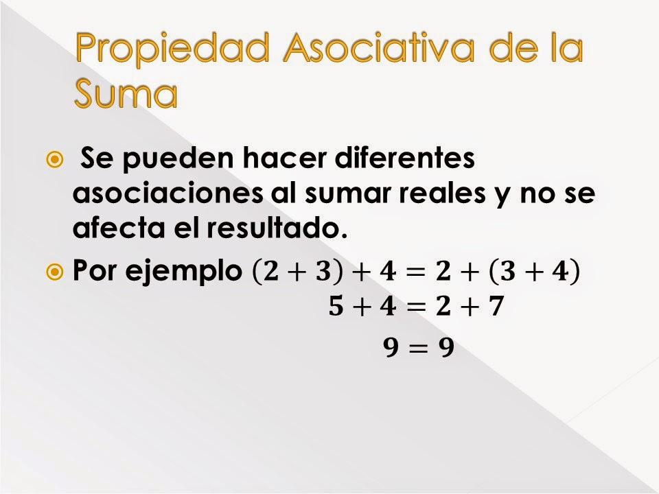 Matematica Octavo Propiedades De Los Numeros Reales