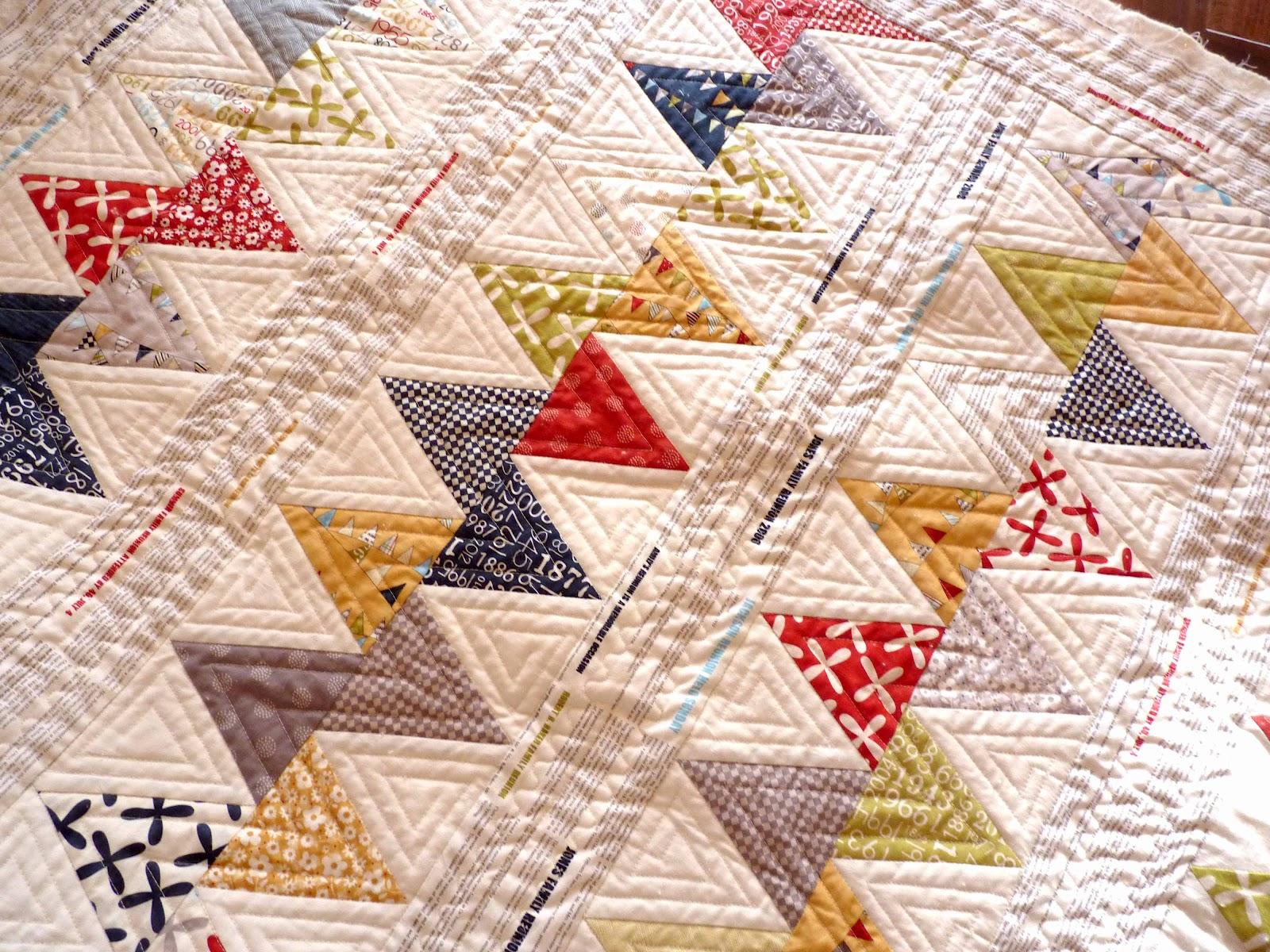 Zig Zag Quilt Pattern Triangles : Jerisew(s): Machine Quilting