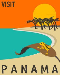 Vintage Travel Poster of Panama