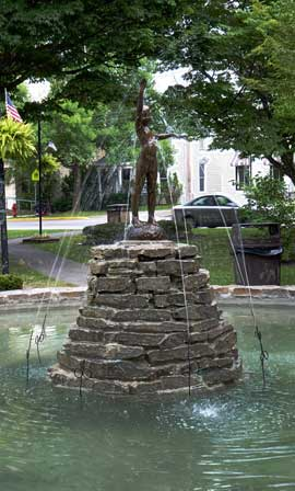 Fountain In the Clinton Village Green