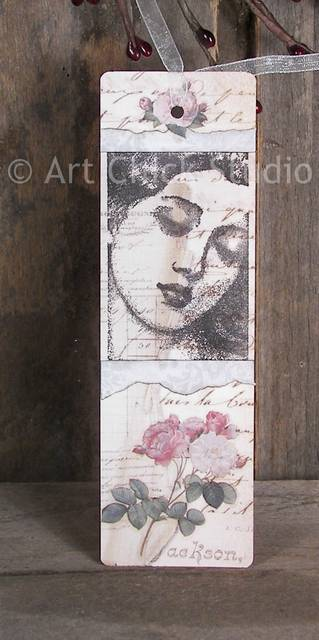 Beauty Altered Art Bookmark