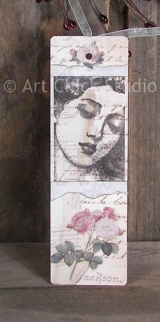 Beauty Altered Art Bookmark
